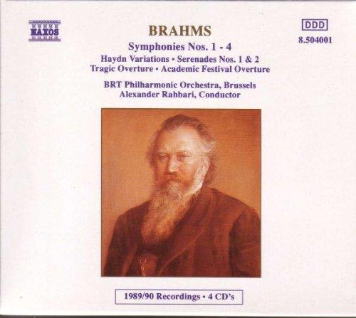 Brahms , Johannes - Symphonies Nos. 1-4, Haydn Variations, Serenades Nos. 1 & 2, Tragic Overture, Academic Festival Overture (Rahbari)