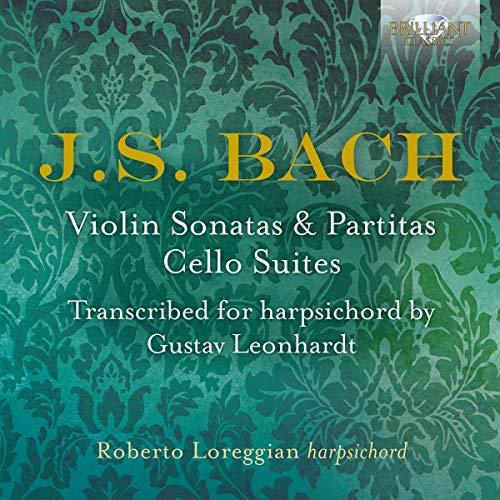 Bach , Johann Sebastian - Violin Sonatas & Partitas / Cello Suites (Transcribed For Harpsichord By Gustav Leonhardt) (Loreggian)