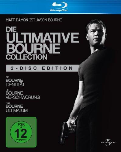 Blu-ray - Die ultimative Bourne Collection (Einzelfilme mit Pappschuber)