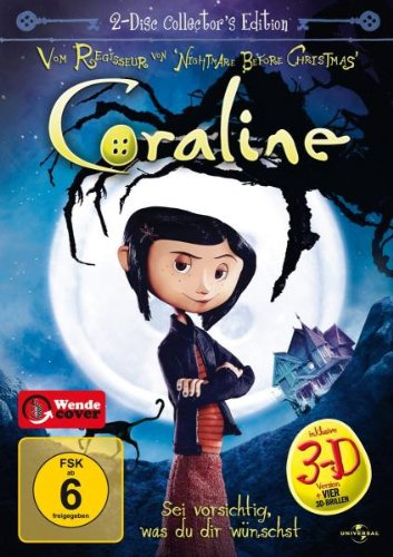 DVD - Coraline 3D (2-Disc Collector's Edition)