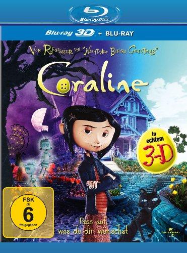 Blu-ray - Coraline (2D- + 3D-Version) im limitierten Premiumschuber [3D Blu-ray]