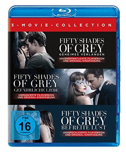 Blu-ray - Fifty Shades of Grey (Geheimes Verlangen / Gefährliche Liebe / Befreite Lust) (3-Movie Collection)