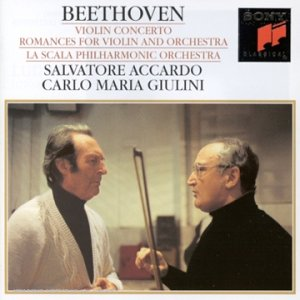 Beethoven , Ludwig van - Violin Concerto / Romances For Violin And Orchestra 1 & 2 (Accardo, Giulini)