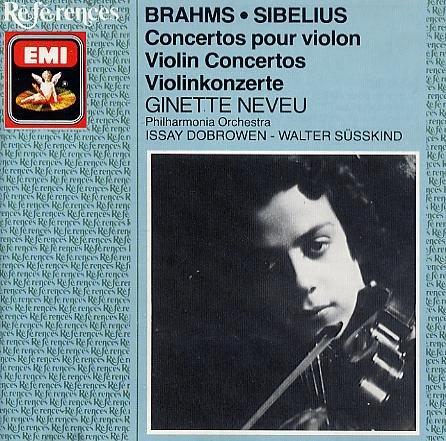 Neveu , Ginette - Brahms & Sibelius: Violin Concertos (Neveu, Dobrowen, Süsskind)