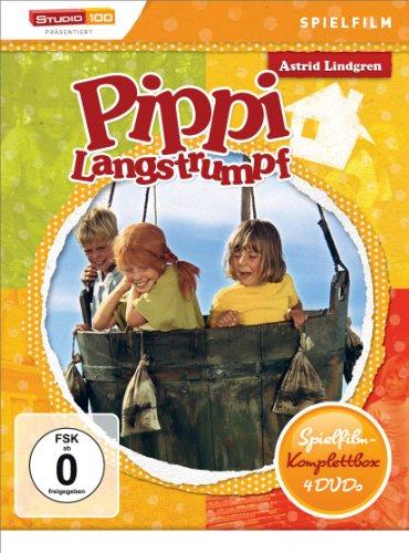 DVD - Astrid Lindgren: Pippi Langstrumpf - Spielfilm-Komplettbox [4 DVDs]