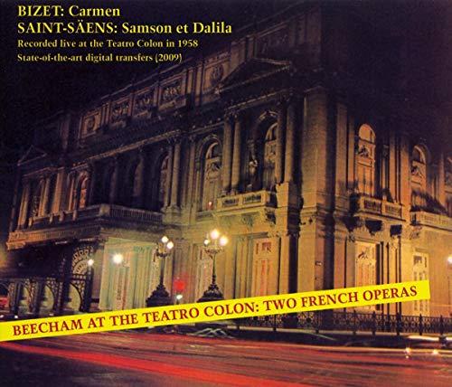 Beecham , Thomas - Beecham At The Teatro Colon: Two French Operas - Bizet: Carmen / Saint-Säens: Samson Et Dalila (GA)