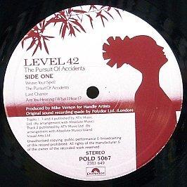 Level 42 - The Pursuit Of Accidents (82) (Vinyl)