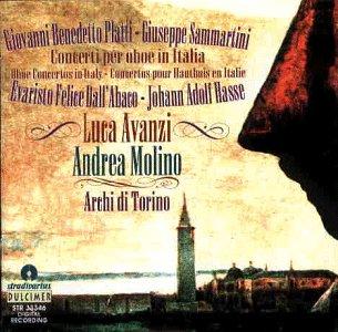 Avanzi , Luca & Molino , Andrea & Archi Di Torino - Concerti Per Oboe In Italia - Platti / Sammartini / Dall'Abaco / Hasse