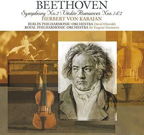 Beethoven , Ludwig van - Symphony No. 2 / Violin Romances Nos. 1 & 2 (Karajan, BP, Oistrakh, RPO, Goosens)