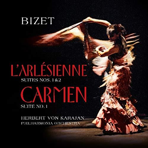 Bizet , Georges - L'Arlesienne (Suites Nos. 1 & 2) / Carmen (Suite No. 1) (Karajan, Philharmonia Orchestra) (Vinyl)