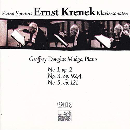 Krenek , Ernst - Sonaten für Klavir No1, op.2 / No. 3, op. 92,4 / No. 5, op. 121