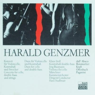 Genzmer , Harald - Konzert für Violoncello, Kontrabaß und Streicher (Baumann, Stoll)