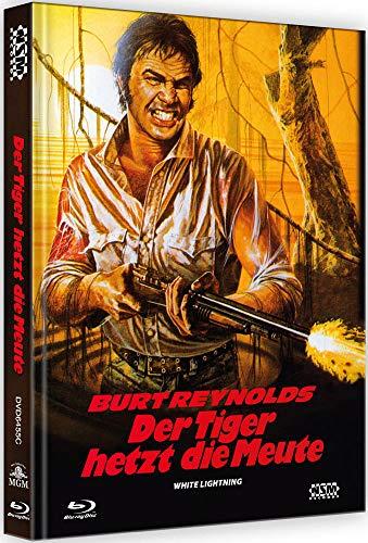 Blu-ray - Der Tiger hetzt die Meute - White Lightning [Blu-Ray+DVD] - uncut - auf 222 Stück limitiertes Mediabook Cover C