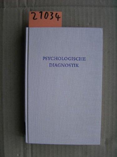 Wewetzer , Karl Hermann (Hrsg.) - Psychologische Diagnostik