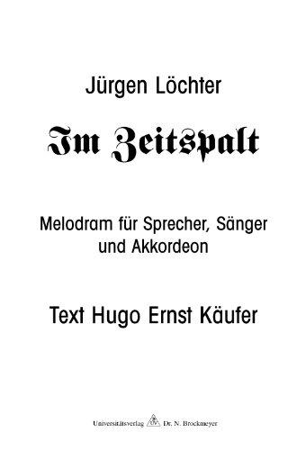 Käufer, Hugo Ernst - Hoffnung ist...: Liederzyklus für Bariton und Akkordeon