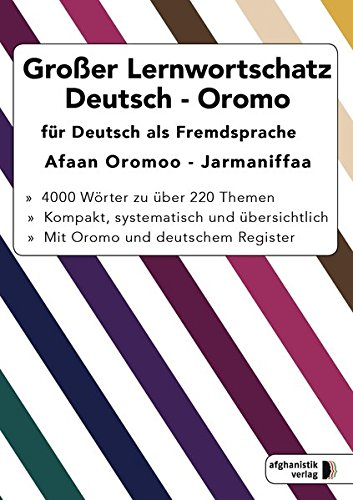 Nazrabi, Noor - Großer Lernwortschatz Deutsch-Oromo für Deutsch als Fremdsprache